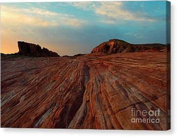 Nevada Sandstone Sunset Canvas Print by Mike Dawson