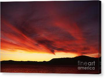 Canvas Print featuring the photograph Nevada Wave by Edward R Wisell