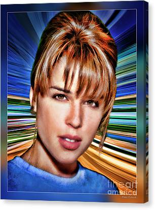 Neve Campbell Canvas Print by Blake Richards