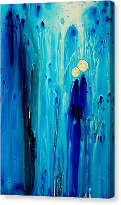 Abstract Art Canvas Print - Never Alone by Sharon Cummings