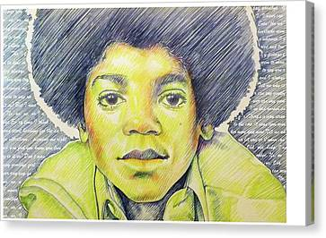 Jackson 5 Canvas Print - Never Can Say Goodbye A Tribute To The King Of Pop by Erin Smith glenn