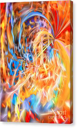 Canvas Print featuring the digital art Never Ending Worship by Margie Chapman