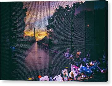 Canvas Print featuring the photograph Never Forget by Edward Kreis