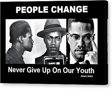 Never Give Up On Our Youth Canvas Print