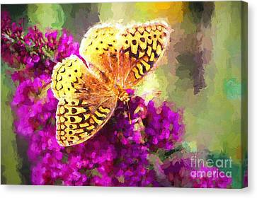 Never Hide Your Wings Canvas Print by Tina LeCour