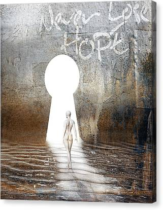 Optimism Canvas Print - Never Lose Hope by Jacky Gerritsen