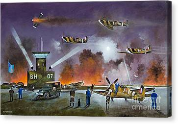 Airoplane Canvas Print - Never So Few by Ken Wood