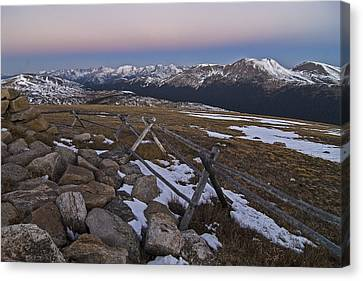 Canvas Print featuring the photograph Never Summer Range by Gary Lengyel