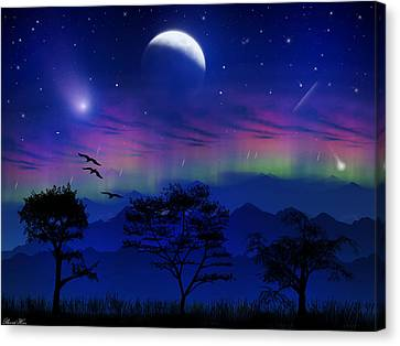 Canvas Print featuring the photograph Neverending Nights by Bernd Hau