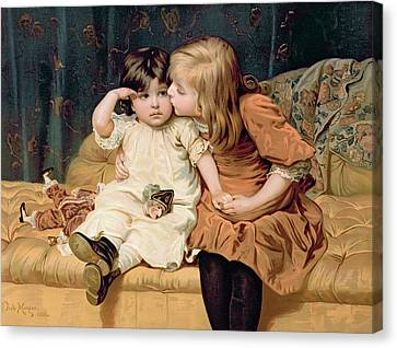 Nevermind Canvas Print by Frederick Morgan