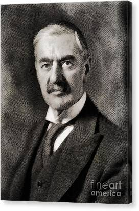 Prime Canvas Print - Neville Chamberlain, Prime Minister Of The United Kingdom By John Springfield by John Springfield