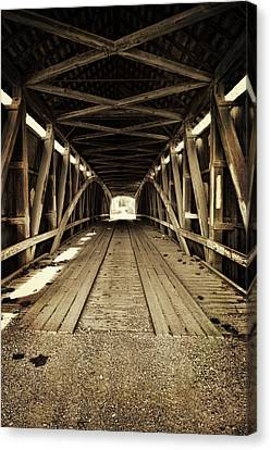 Canvas Print featuring the photograph Nevins Bridge by Joanne Coyle