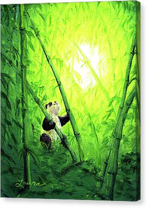 New Bamboo Leaves Canvas Print by Laura Iverson