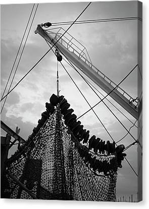 New Bedford Waterfront Xvii Bw Canvas Print