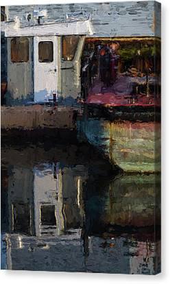 New Bedford Waterfront  Xxiv Canvas Print by David Gordon