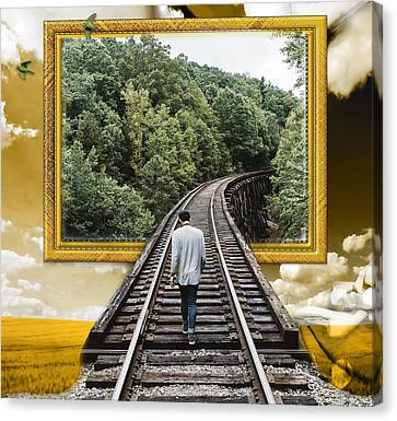 Train Canvas Print - New Beginning by Marvin Blaine