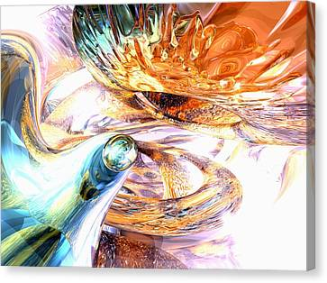 Swirling Desires Canvas Print - New Beginnings Abstract  by Alexander Butler