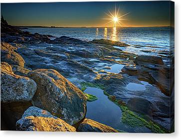 New Beginnings On Muscongus Bay Canvas Print by Rick Berk
