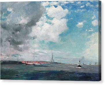 Seascape Canvas Print - New Brighton From The Mersey by JH Hay