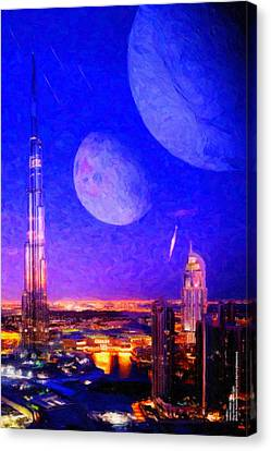 New Dubai On Tau Ceti E Canvas Print