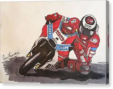 Racing Canvas Print - New Duc by Ian Farrar