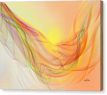 New Earth With Harmonious Layers Canvas Print