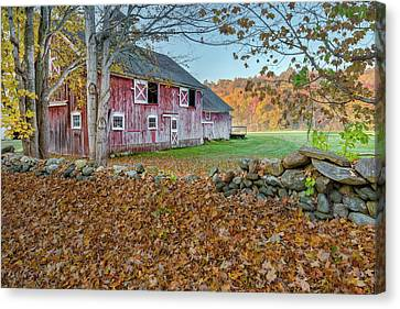 New England Barn 2016 Canvas Print by Bill Wakeley