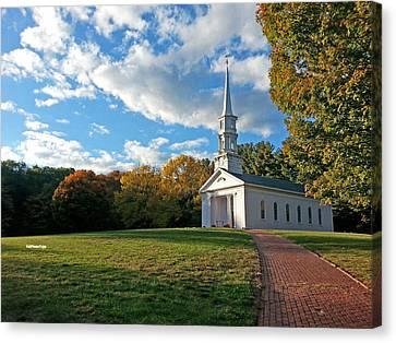 Canvas Print - New England Church by April Bielefeldt