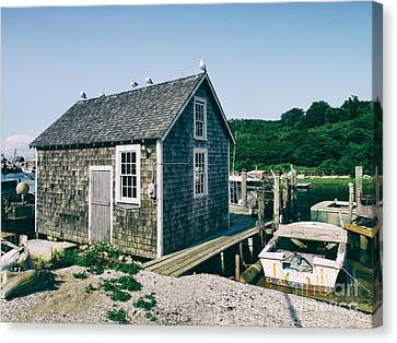 New England Fishing Cabin Canvas Print by Mark Miller