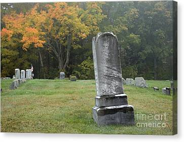 New England Graveyard During The Autumn  Canvas Print by Erin Paul Donovan
