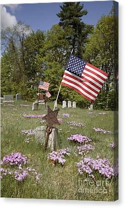New England Graveyard Canvas Print by Erin Paul Donovan