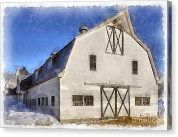 New England Horse Barn South Woodstock Vermont Canvas Print by Edward Fielding