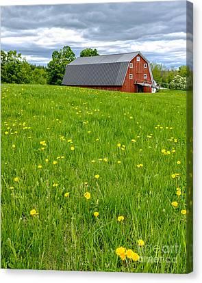 New England Landscape Canvas Print by Edward Fielding