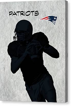 Canvas Print featuring the digital art New England Patriots Football by David Dehner