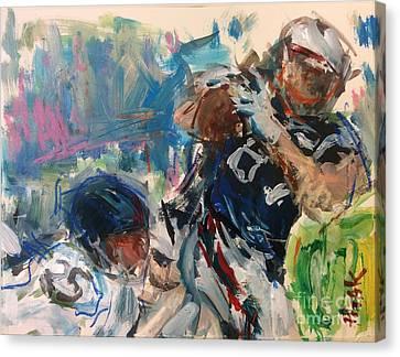 New England Patriots Canvas Print by Russ Potak