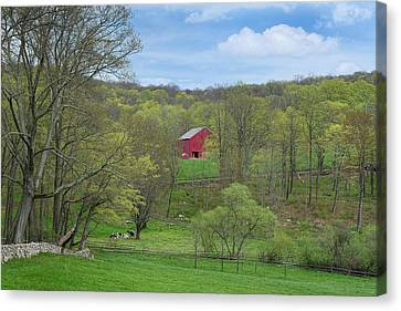 Canvas Print featuring the photograph New England Spring Pasture by Bill Wakeley