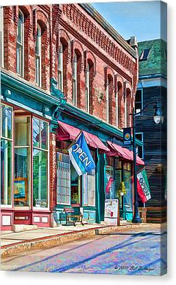 New England Storefronts Canvas Print