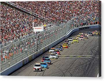 New Hampshire Motor Speedway Pace Car Canvas Print by Juergen Roth