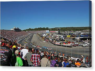 New Hampshire Motor Speedway Safety Car Canvas Print by Juergen Roth