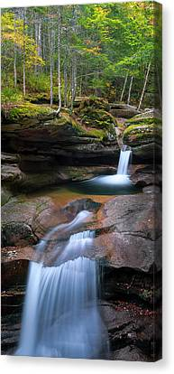 New Hampshire Sabbaday Falls Panorama Canvas Print