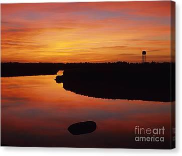 New Hampshire Salt Marsh At Sunrise Canvas Print by Erin Paul Donovan