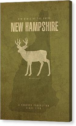 New Hampshire State Facts Minimalist Movie Poster Art Canvas Print by Design Turnpike