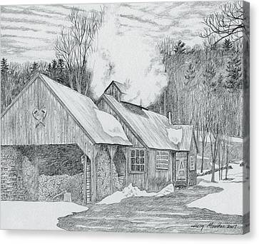 New Hampshire Sugarhouse Canvas Print by Harry Moulton