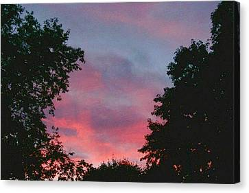 Canvas Print featuring the digital art New Hampshire Sunset by Barbara S Nickerson