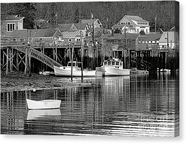 New Harbor Docks Canvas Print by Olivier Le Queinec