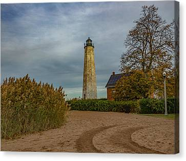 New Haven Light Canvas Print by Capt Gerry Hare