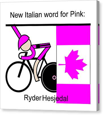 New Italian Word For Pink Canvas Print by Asbjorn Lonvig