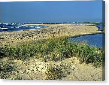 New Jersey Inlet  Canvas Print by Sally Weigand
