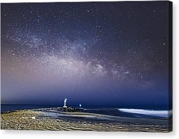 New Jersey Shore Milky Way Rising Canvas Print by Susan Candelario