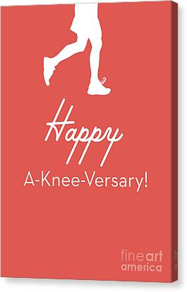 New Knee Card- Art By Linda Woods Canvas Print
